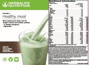 Nutritional Shake Label
