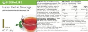 Instant Tea Label